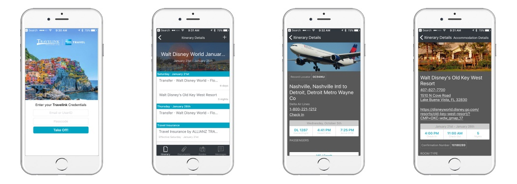 Travelink Mobile Itinerary App